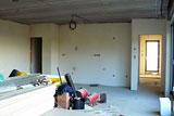 Omítky obývací pokoj